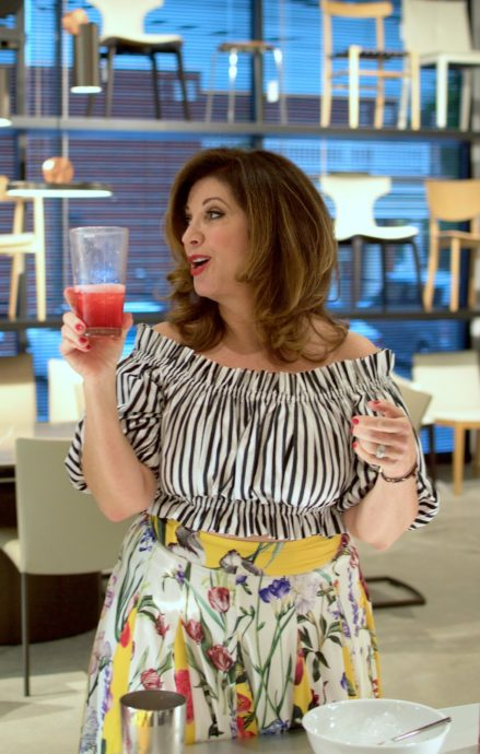 Me mixing up a Campari Shakerato from my book