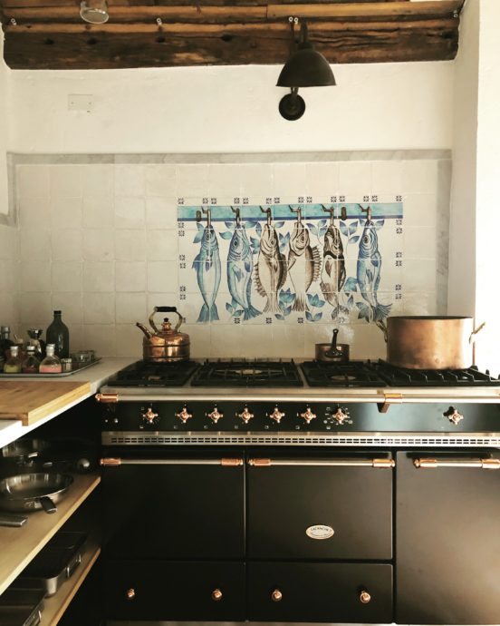 everyone loves cooking on the big beautiful Lacanche
